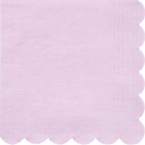 Lilac Scalloped Large Napkins