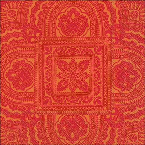 Orange Moroccan Print Large Napkins