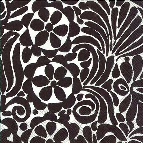 Black and White Tamara Marimekko Large Napkins