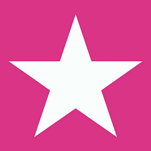 Hot Pink and White Star Large Napkins
