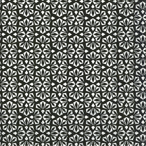 Black and White Floral Large Napkins