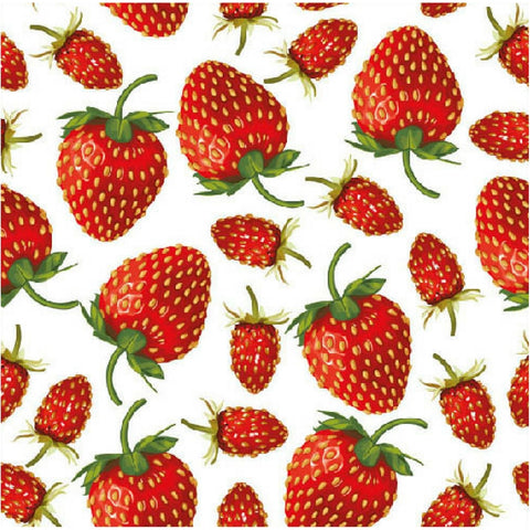 Red Strawberries Large Napkins