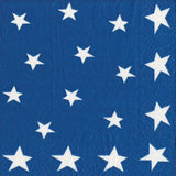 Blue and White and Red Fourth of July Double-Sided Large Napkins