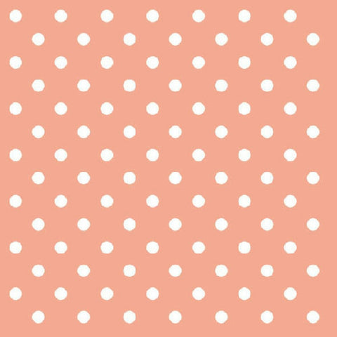 Peach and White Mini Dots Large Napkins