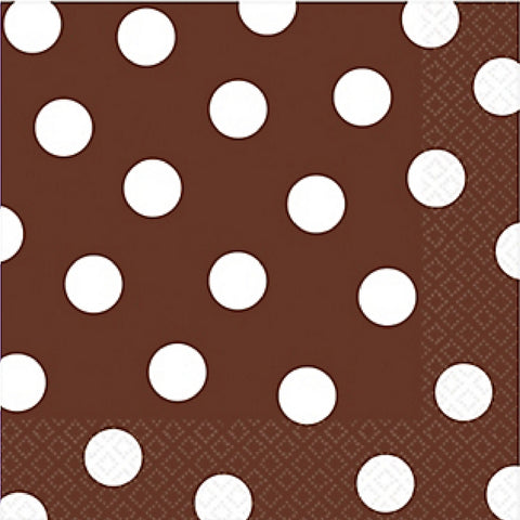 Brown and White Dots Large Napkins