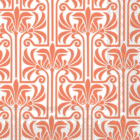 Orange and White Lily Large Napkins