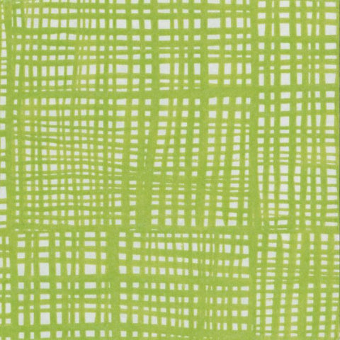 Green and White Raffine Large Napkins