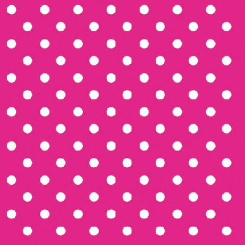 Hot Pink and White Mini Dots Large Napkins