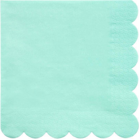 Mint Scalloped Large Napkins