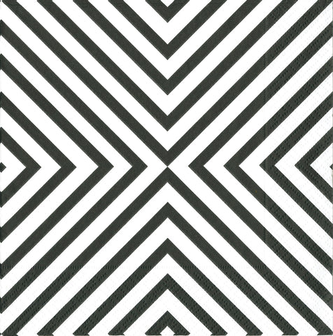 Black and White Chevron Large Napkins