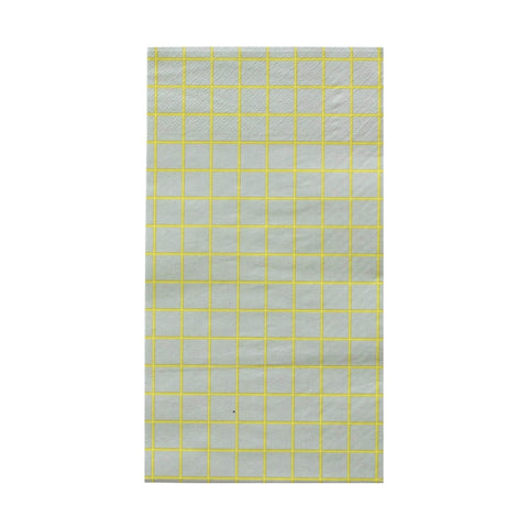 Chartreuse and Grey Oh Happy Day Guest Towels