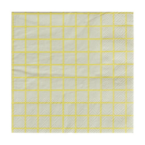 Chartreuse and Grey Oh Happy Day Beverage Napkins
