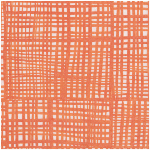 Orange and White Raffine Large Napkins