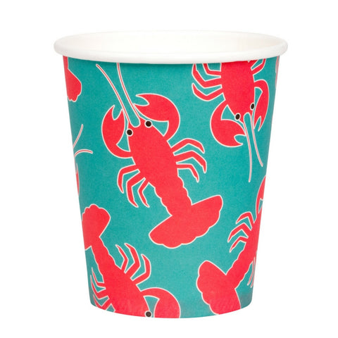 Turquoise and Red Lobster Cups