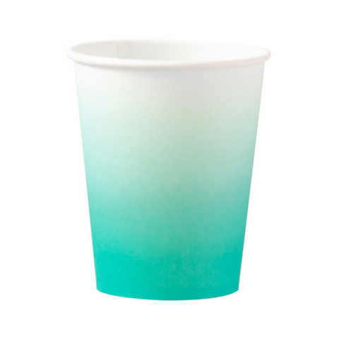 Teal Ombre Oh Happy Day Cups