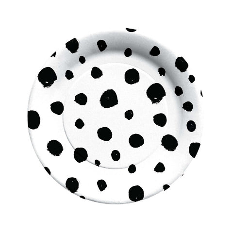 Black and White Chic Dots Small Plate