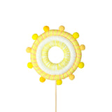 Yellow Cotton Sun Cake Topper