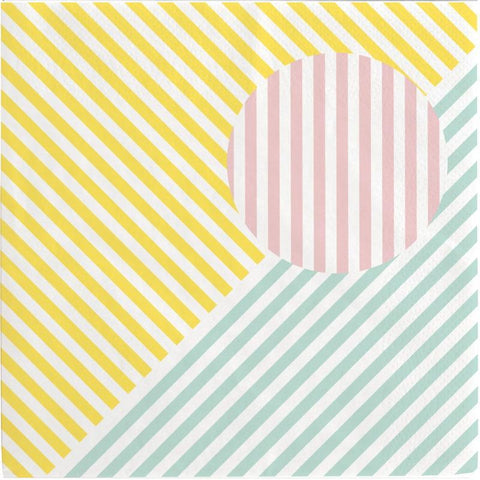 Pastel Stripes Large Napkins