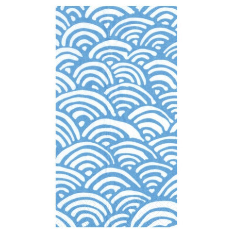 Blue and White Rainbow Guest Towels