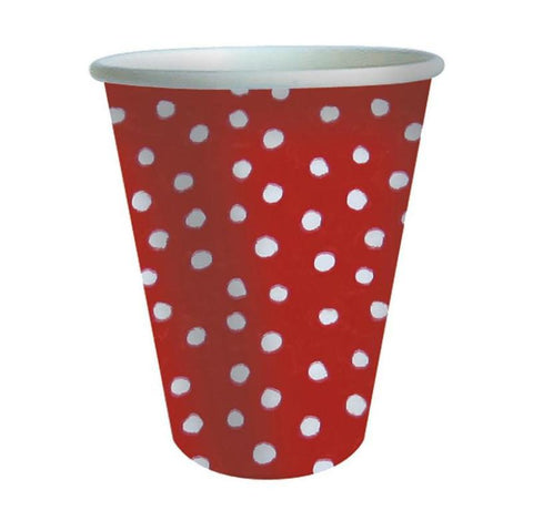 Red and White Mini Dots Cups