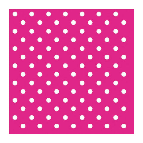 Hot Pink and White Mini Dots Small Napkins
