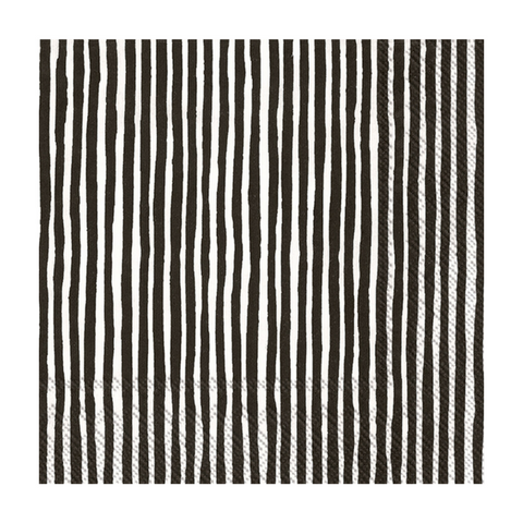 Black and White Striped Marimekko Small Napkins