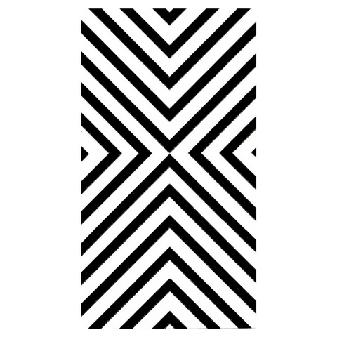 Black and White Chevron Guest Towels