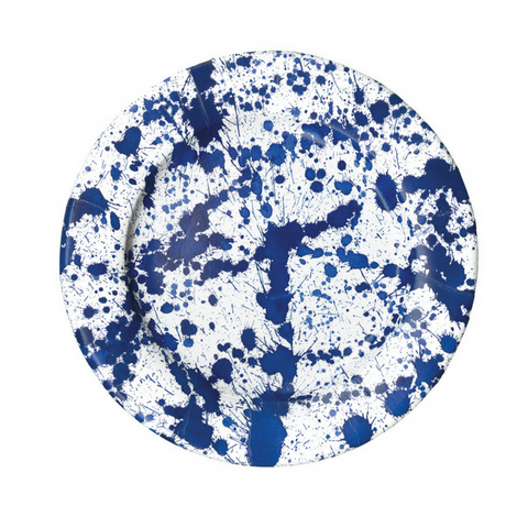 Royal Blue and White Splatter Small Plate