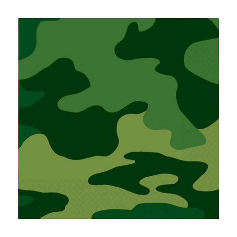 Green Camouflage Small Napkins