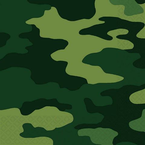 Green Camouflage Large Napkins