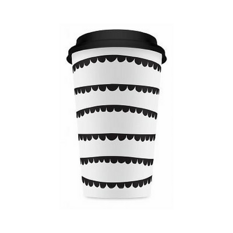 Black and White Garland To-Go Coffee Cups
