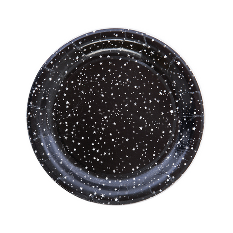 Black and White Galaxy Star Small Plate