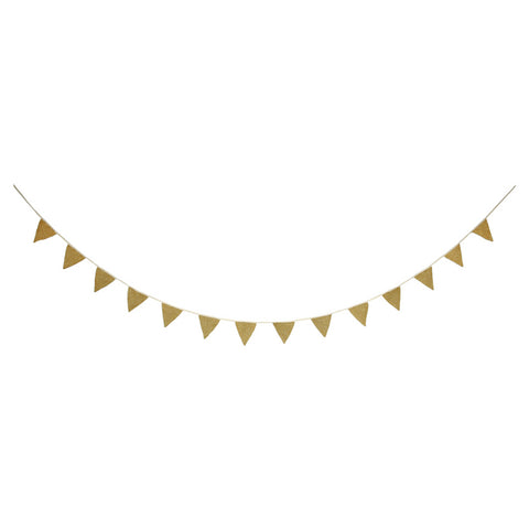 Gold Knitted Bunting Garland