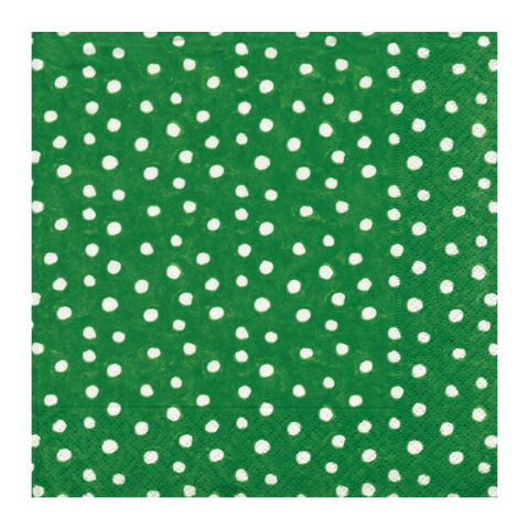 Green and White Mini Dot Small Napkins