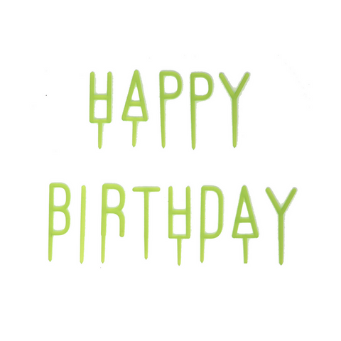 Green Happy Birthday Letter Toppers