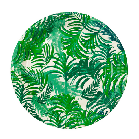 Green Tropical Leaf Large Plate