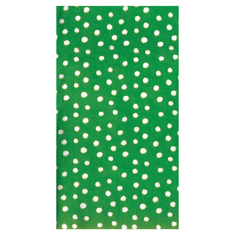 Green and White Mini Dot Guest Towels