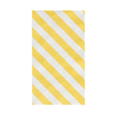 Yellow and White Striped Oh Happy Day Guest Towels