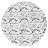 Black and White Jurassic Large Plate