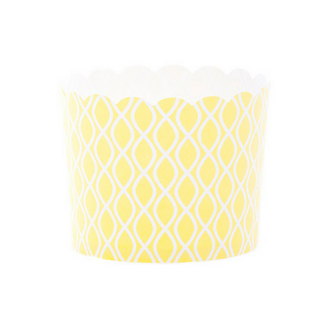 Yellow and White Geometric Large Baking Cups