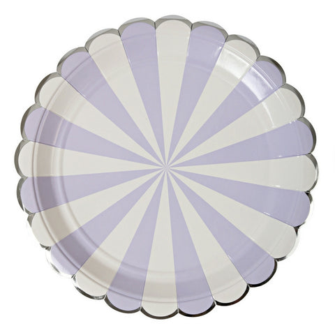 Lavender and White Radial Large Plate