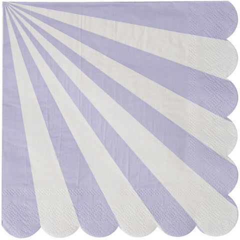 Lavender and White Radial Large Napkins