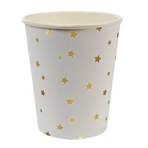 Gold and White Star Party Cups