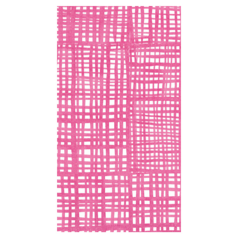 Hot Pink and White Raffine Guest Towels