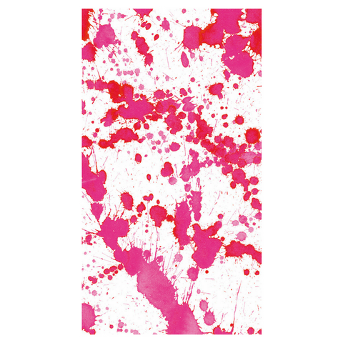 Hot Pink and White Splatter Guest Towels