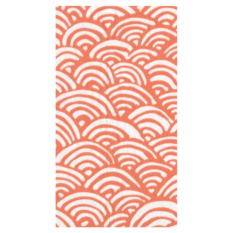 Coral and White Rainbow Guest Towels