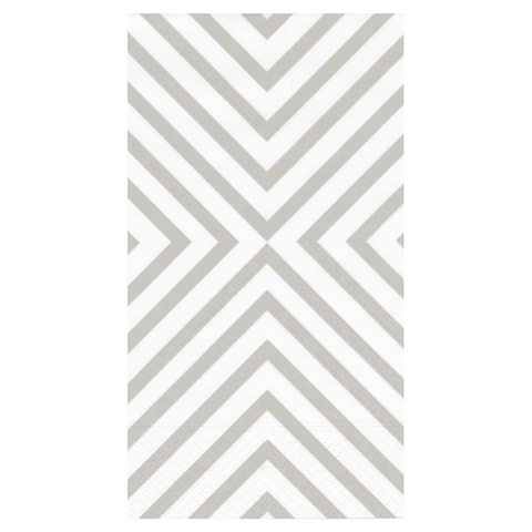 Silver and White Chevron Guest Towels