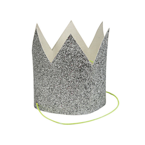 Silver Glitter Crowns