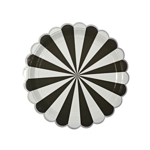 Black and White Radial Small Plate