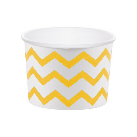 Yellow and White Chevron Treat Cups